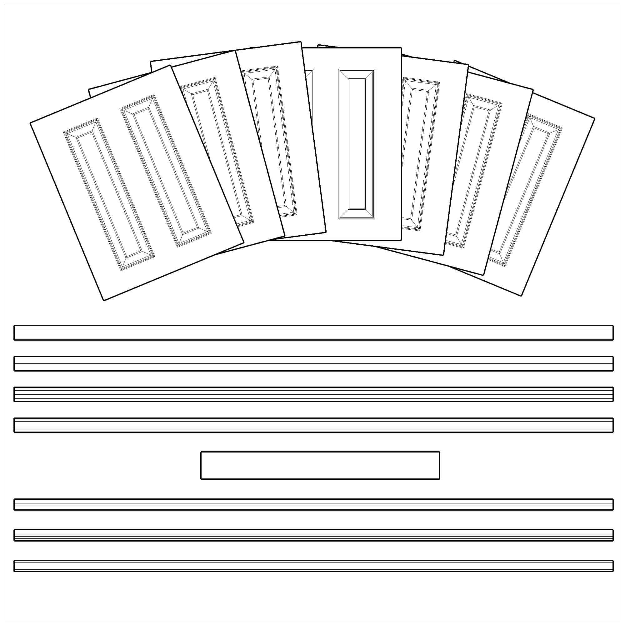 Hare Wall Panelling Dado Pnel Kit 4.6m